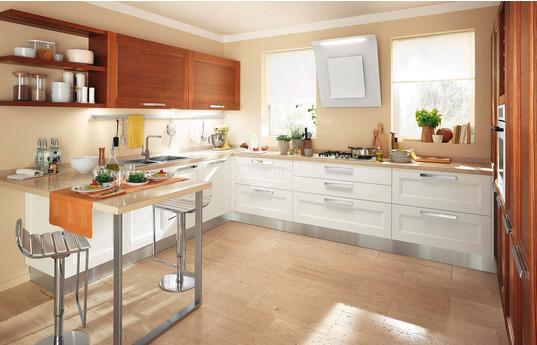 Угловая кухня Латте