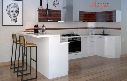 Угловая кухня Пломбир