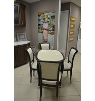 Стол обеденный овальный  Азулен 1000х700 с КАМНЕМ