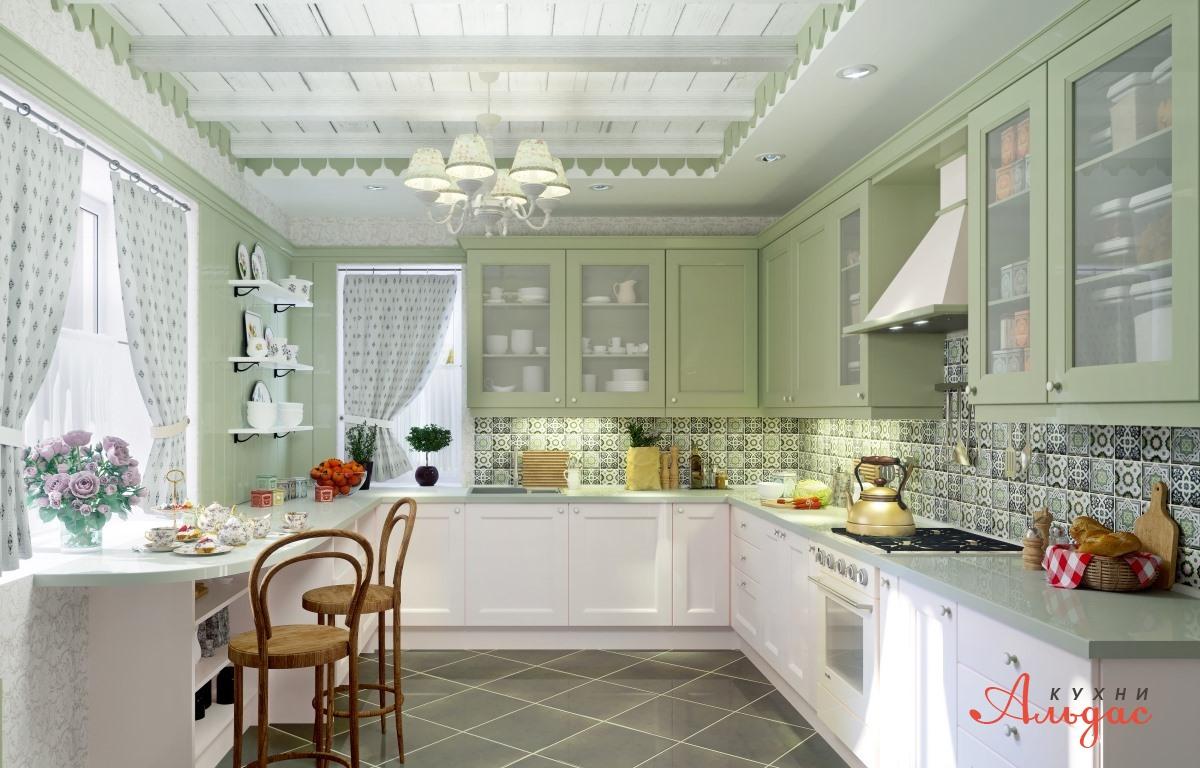 Угловая кухня Камелия