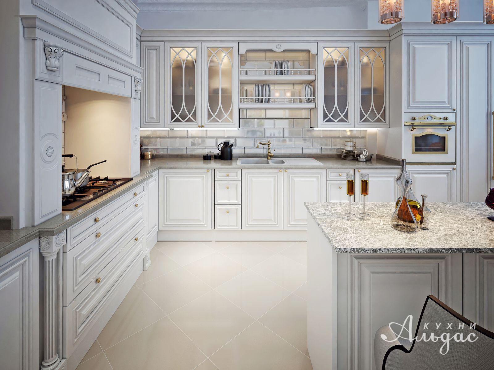 Угловая кухня  Эдельвейс