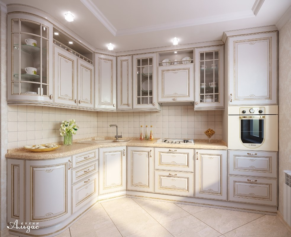 Угловая кухня Ивори