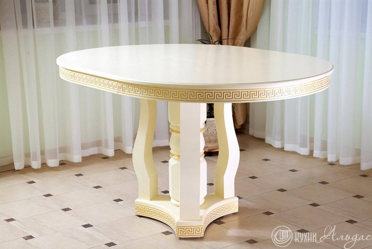 Стол круглый Регано 16 на фигурной опоре