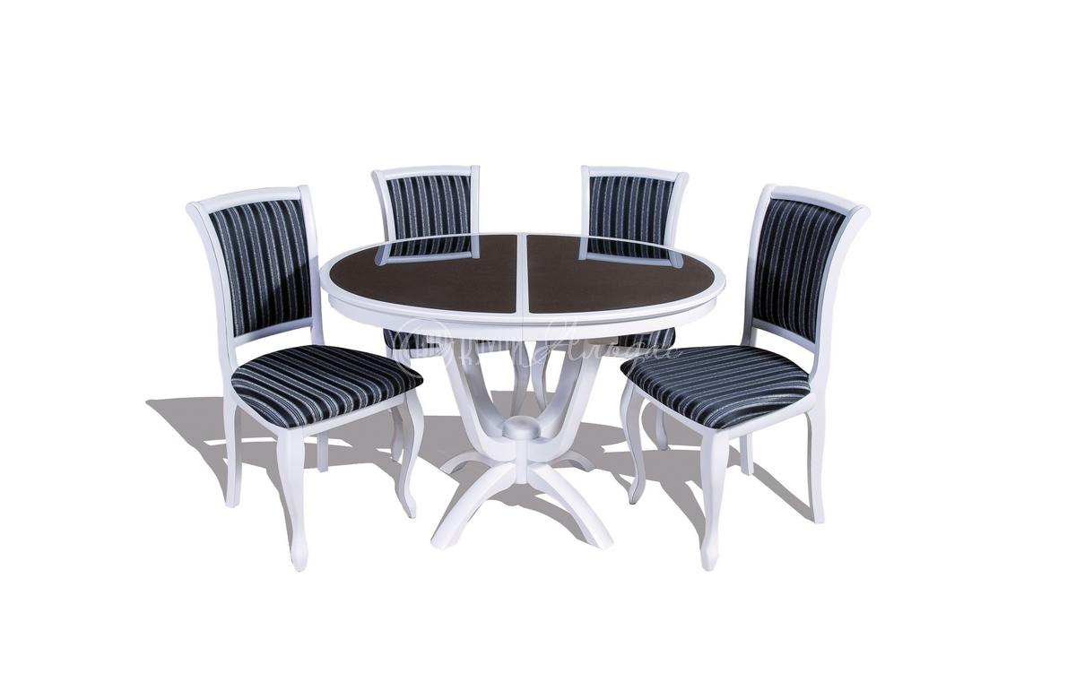 Стол обеденный овальный Крокус ОС со стеклом
