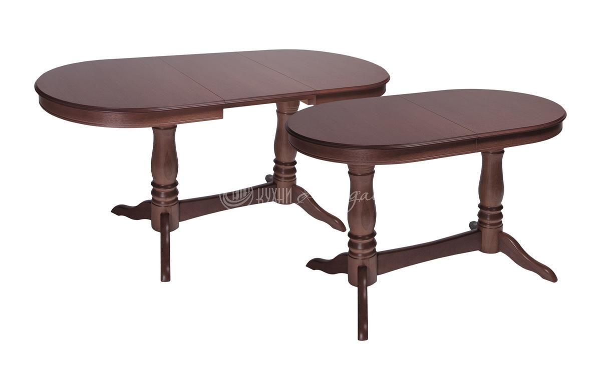 Стол обеденный прямоугольный Конго МО с закругленными углами