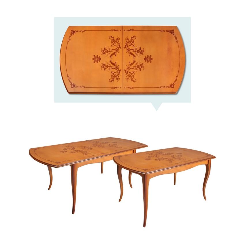 Стол обеденный прямоугольный Азулен 1400 с закругленными углами
