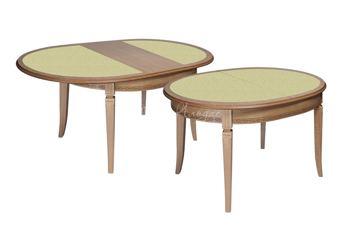 Стол обеденный овальный Азулен 3 с камнем