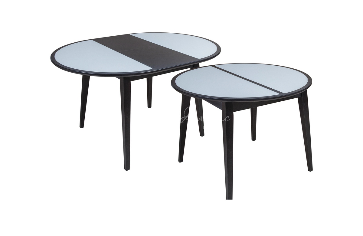 Стол обеденный круглый Арабеск со стеклом