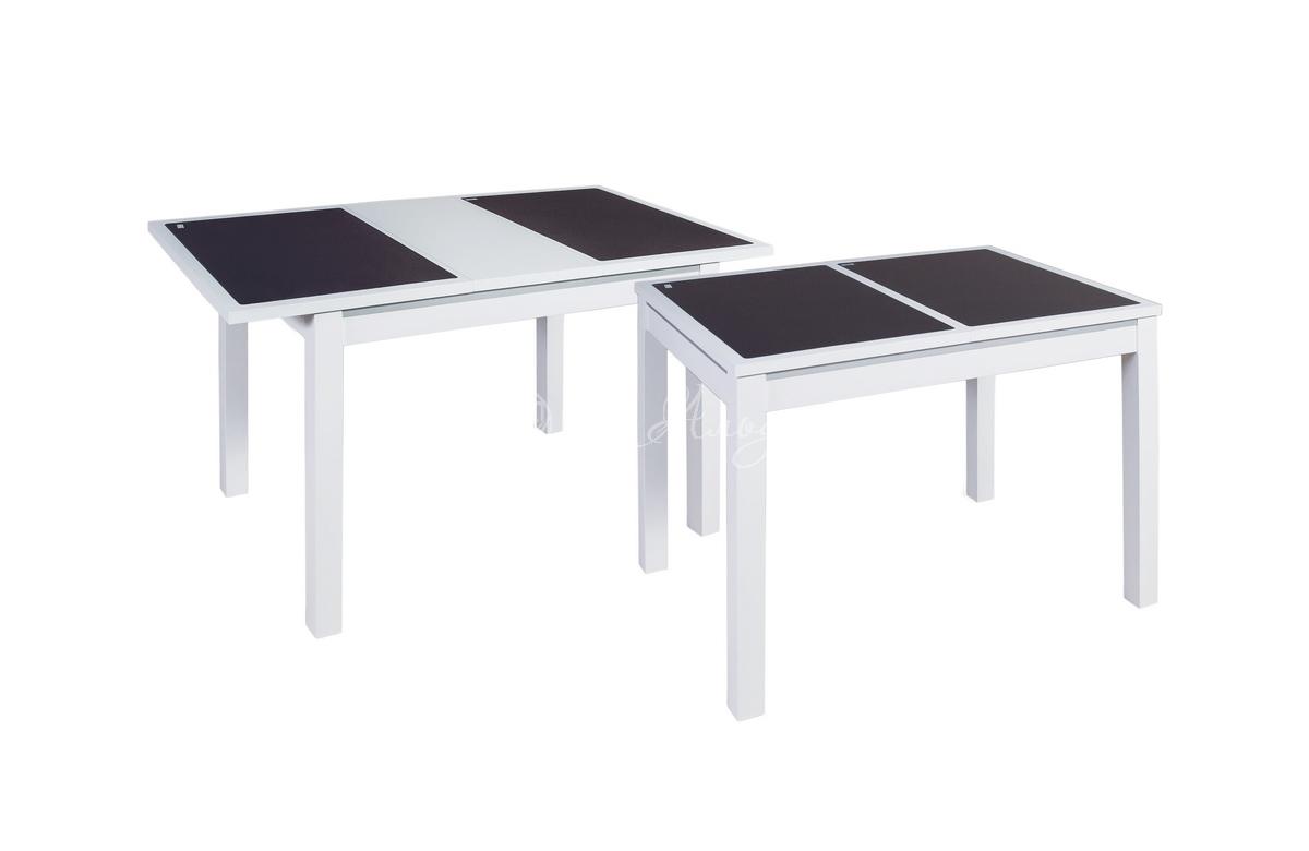 Стол обеденный прямоугольный Жульен С со стеклом