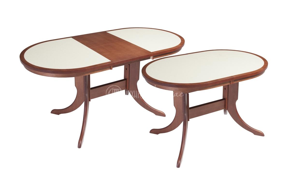 Стол обеденный овальный Люсиано с камнем